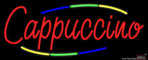 Deco Style Red Cappuccino Real Neon Glass Tube Neon Sign