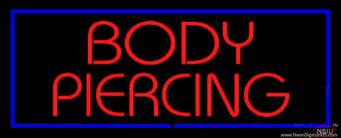 Red Body Piercing Red Border Real Neon Glass Tube Neon Sign