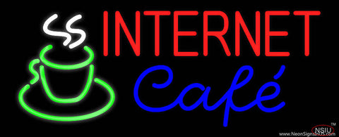 Internet Cafe Real Neon Glass Tube Neon Sign