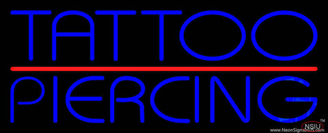 Blue Tattoo Piercing Red Line Real Neon Glass Tube Neon Sign
