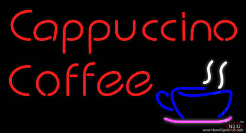 Red Cappuccino Coffee Real Neon Glass Tube Neon Sign