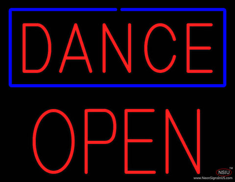 Red Dance Block Open Real Neon Glass Tube Neon Sign