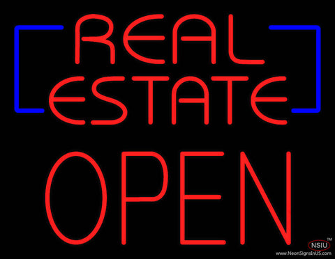 Red Real Estate Block Open Real Neon Glass Tube Neon Sign