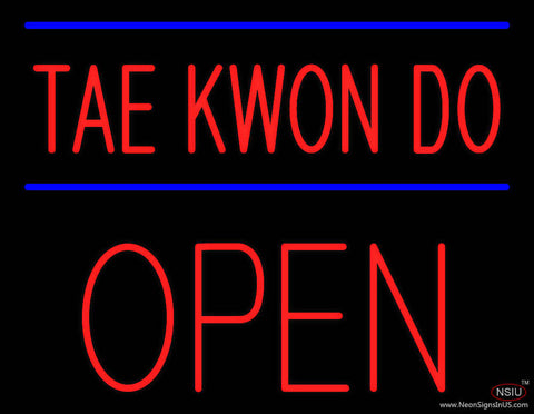 Tae Kwon Do Block Open Real Neon Glass Tube Neon Sign