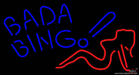 Blue Bada Bing Lady Real Neon Glass Tube Neon Sign
