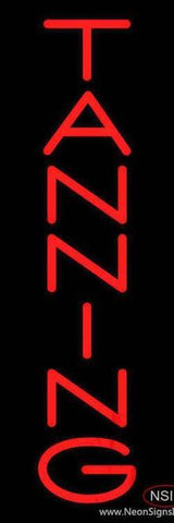 Red Vertical Tanning Handmade Art Neon Sign