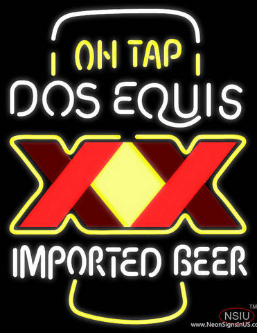 Dos Equis XX on Tap Real Neon Glass Tube Neon Sign
