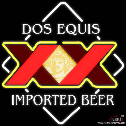 Dos Equis Real Neon Glass Tube Neon Sign