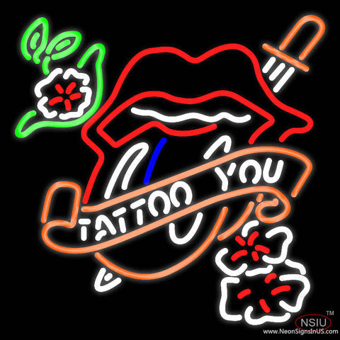 Tattoo You Real Neon Glass Tube Neon Sign