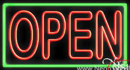 Double Stroke Pink Open With Aqua Border Real Neon Glass Tube Neon Sign