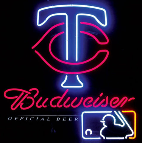 Neon Sign Budweiser Minnesota Twins