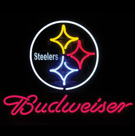 Neon Sign Budweiser Pittsburg Steelers