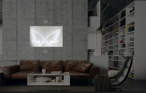 New Angel Wings Neon Art Sign Handmade Visual Artwork Wall Decor Light