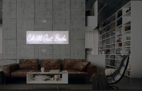 New Chill Out Babe Neon Art Sign Handmade Visual Artwork Wall Decor Light