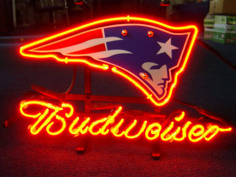 New England Patriot Budweiser Football Neon Light Sign