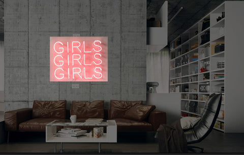 New Girls Girls Girls Neon Art Sign Handmade Visual Artwork Wall Decor Light