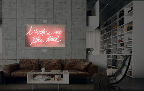 New I woke Up Like This Neon Art Sign Handmade Visual Artwork Wall Decor Light