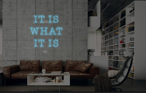 New It Is What It Is Neon Art Sign Handmade Visual Artwork Wall Decor Light