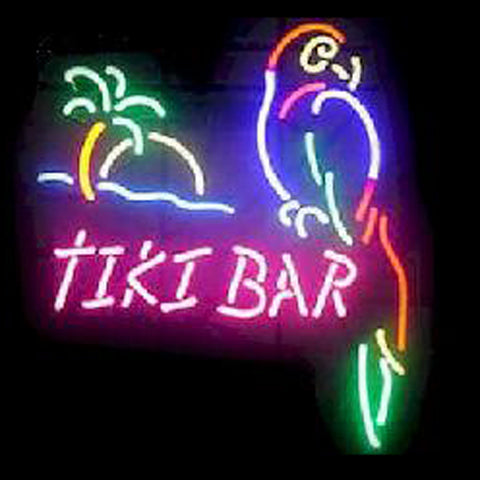 Neon Tiki Bar Signs