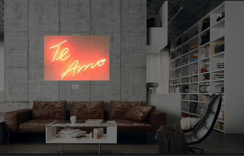 New Te Amo Neon Art Sign Handmade Visual Artwork Wall Decor Light