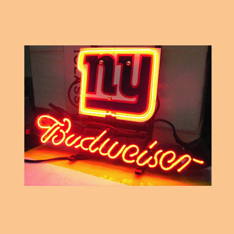 New York Giants Football Budweiser Neon Light Sign