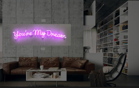 New You Are My Dream Neon Art Sign Handmade Visual Artwork Wall Decor Light