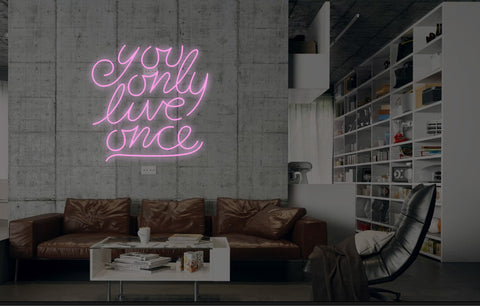 New You Only Live Once Neon Art Sign Handmade Visual Artwork Wall Decor Light
