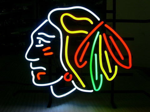 Nhl Chicago Blackhawks Hockey Real Neon Sign