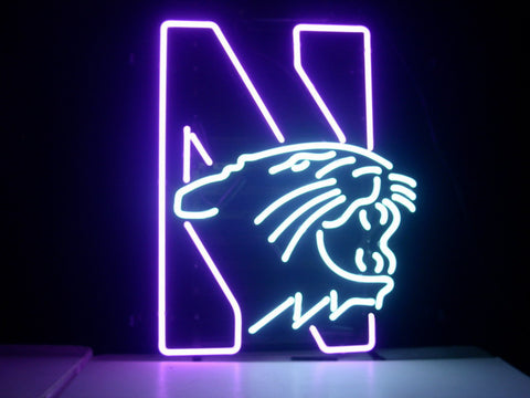 Northwestern University Wildcats Real Glass Neon Sign