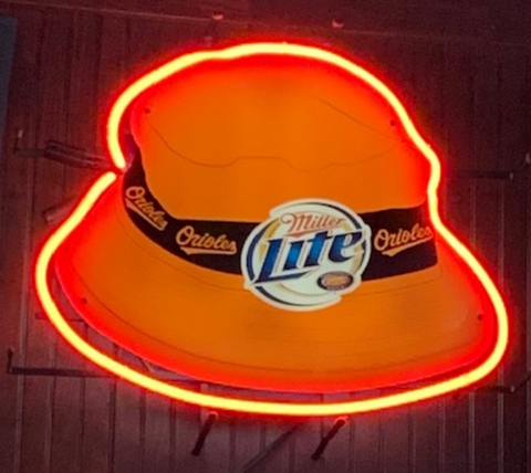 Orioles Gloppy hat Miller Real Neon Glass Tube Neon Signs