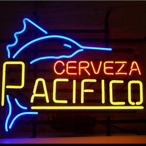 Professional  Pacifico Clara Mexican Cerveza Real Neon Glass Bar Pub Sign