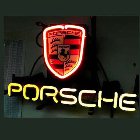Professional  Porsche European Auto Beer Bar Neon Sign