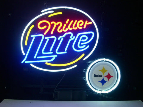 Pittsburgh Steelers Football Miller Lite Neon Sign