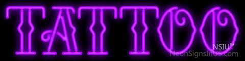 Purple Tattoo Neon Sign