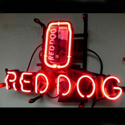 Professional  Red Dog Beer Bar Neon Sign