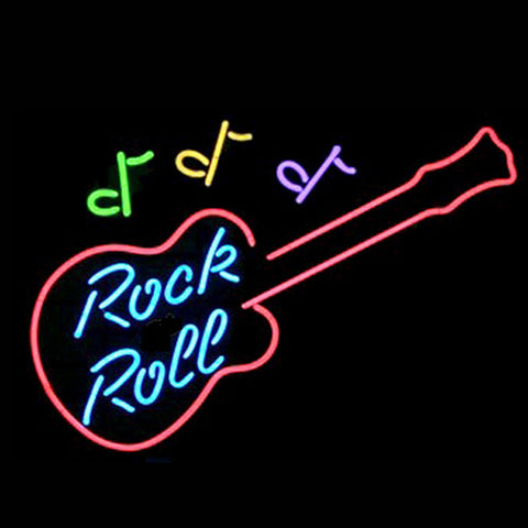 Professional  Rock & Roll Beer Bar Open Neon Signs