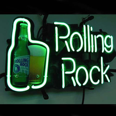 Professional  Rolling Rock Beer Bar Neon Sign