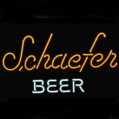 Professional  Schaefer Beer Logo Pub Display Store Bar Real Neon Sign Gift Fast Ship