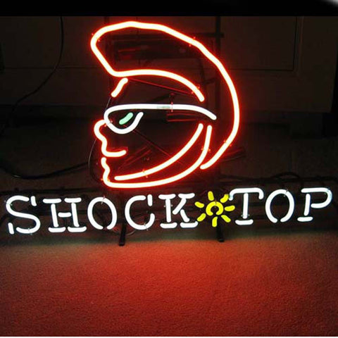 Professional  Shock Top Beer Lager Neon Bar Pub Sign