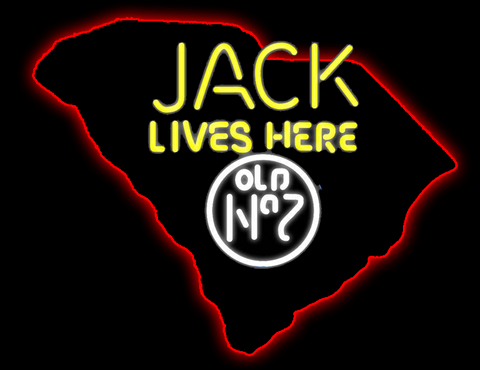 South Carolina Jack Lives Here Old No Real Neon Glass Tube Neon Sign