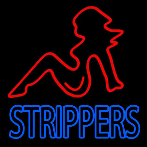 Strippers Handmade Art Neon Sign