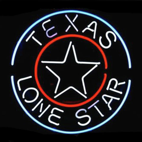Professional  Texas Lone Star Circles Logo Pub Display Beer Bar Real Neon Sign Xmas Gift