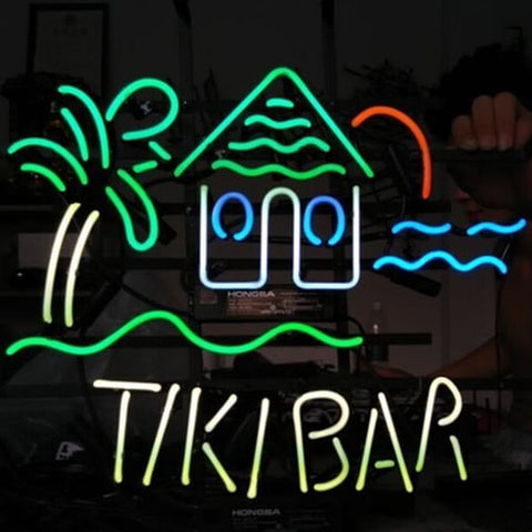 TIKI BAR TROPICAL Handmade Art Neon Sign