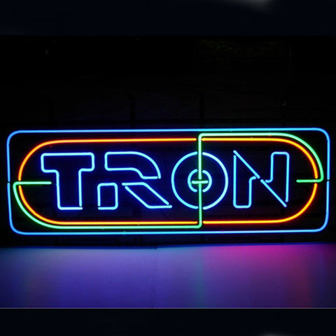 Professional  Tron Neon Sign Shop Open