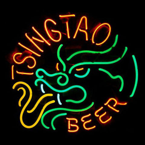 Professional  Tsingtao Beer Bar Open Neon Signs