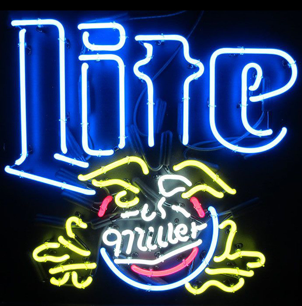 This Miller Lite Eagle Neon Sign