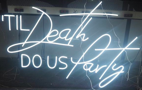 Till death do us part Neon Sign
