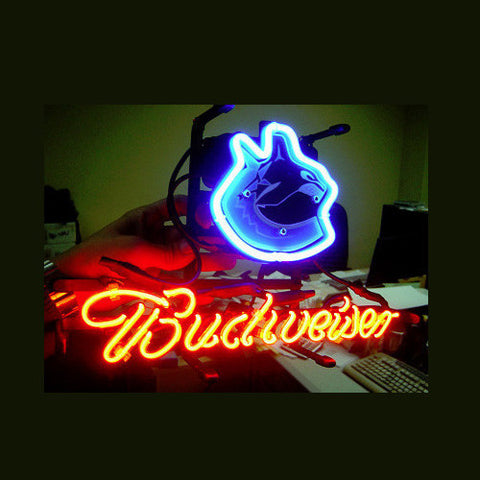 Vancouver Canucks Budweiser Football Neon Light Sign