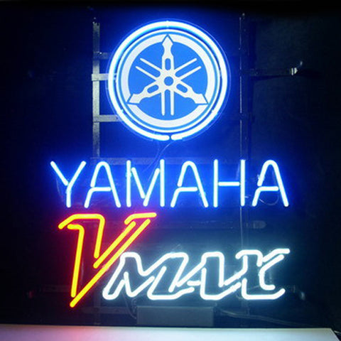 Professional  Yamaha V Max Shop Open Neon Sign