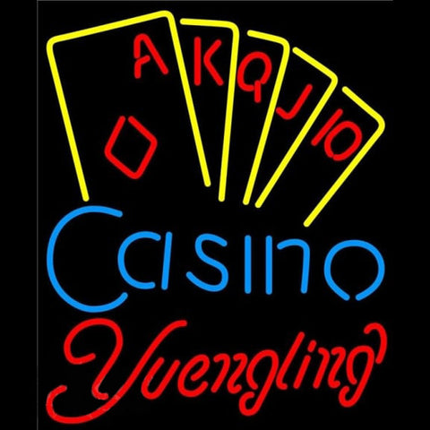 Yuengling Poker Casino Ace Series Beer Sign Handmade Art Neon Sign